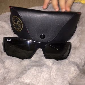 Rb4057 3p Shiny Black Polarized